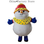 Christmas Inflatable Snowman Mascot Costume Cosplay Party Game Advertising Cloth