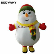 2019 Cute Inflatable Snowman Mascot Costume Cosplay Party Game Xmas Easter Top