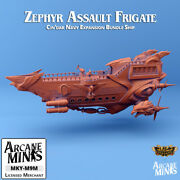 Skies Of Sordane Zephyr Assault Frigate Dandd Dungeons And Dragons Airship Model