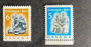 Canada 488 489 Mnh Stamps 1968 - Christmas - Inuit Soapstone Carvings