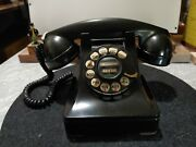 Vintage Bell Systems Western Electric F1 Rotary Desk Phone Black Metal Dial