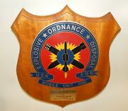 Eod Metal And Wood Usn Military Plaque - Explosive Ordnance Disposal