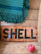 Shell Oil Petrol Enamel Advertising Sign Early Shell Sign