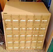 Po Box P.o. Post Office Box Cabinet Metal 30 Boxes Keys Numbered Mail Apartment
