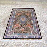 Yilong 4and039x6and039 Handmade Silk Area Rug Home Interior Luxury Indoor Carpet Z509a