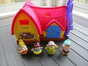 Fisher Price Little People Disney Princess Snow White's Cottage W/ 4 Figures