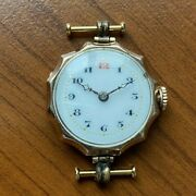 Mega Rare Solid 9k Gold Military Wwi Rolex Nearly 120 Years Old