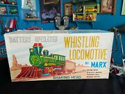 Vintage Marx Whistling Lighted Shaking Head Locomotive Train Battery Operated