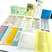 Lot 20+ Circus Carnival Route Schedules 60s 70s Hoxie Century 21 Murphy Wow