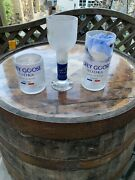 Tall Glass Whiskey Glass And Wine Glass Grey Goose Vodka Bottle / Glass Upcycled