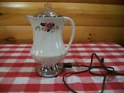 Vtg Royal Rochester Porcelain Coffee Percolator/ Cord Tested And Works 1920's