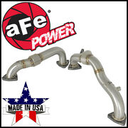 Afe Twisted Steel Headers Up-pipes Fit 2008-2010 Ford F-250 F-350 6.4l V8 Diesel