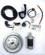 Electrical Start Conversion Kit For Yamaha 2 Stroke 30hp Outboard Model 61t