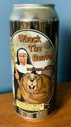 Very Rare Scarce Whack The Beaver Imperial Porter Pristine Beer Can Nun Paddle