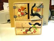 Vintage Doll House Furniture Wooden Chest Of Drawers Made In Japan
