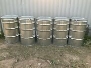 55 Gallon Stainless Steel Drum Barrel With Bolt Lids