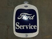 Porcelain Ford Service Enamel Sign Size 32 X 22 Inches