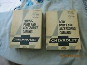 2 Used 1938-1969 Chevrolet Pass. Cars, 195319-69 Corvette, Body And Parts Catalogs