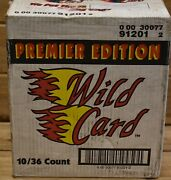 1991 Nfl Wild Cards Premier Edition Football Cards Sealed Case