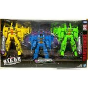 In Hand Hasbro Transformers Wfc Siege Seekers 3 Pack Exclusive Action Figures