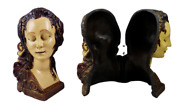 Antique L C Mayer Euphonia Female Bust Candlestick Telephone Hide-a-phone Cover