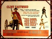 The Good The Bad And The Ugly 1968 Original Uk Quad Poster On Linen