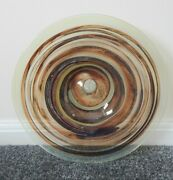 Early Isle Of Wight Glass Tortoiseshell Charger Signed By Michael Harris - 40cm