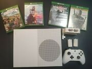 Microsoft Xbox One S 1tb White Console With 4 Games And Controller Charger