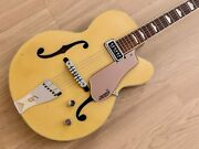 1956 Gretsch Streamliner 6189 Bamboo Yellow And Copper Mist Vintage Guitar W/ Case
