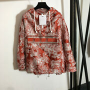 Women Red New Hooded 2021 Fashion Embroidery High Quality Jacket Outerwear Hot