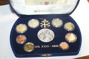 Vatican Official Euro Coin Set Proof 2002 From 1 Cent To 2 Euro