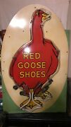 Vintage Red Goose Shoes Metal And Neon Store Display Advertisement Light