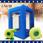 2.5m 9ft Inflatable Cash Cube Money Machine Advertising Promotion With Blowers