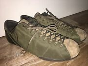 Rare Discontinued Asics Apomixis F-360604 Py Tap064 Size 28 Green Suede Nylon
