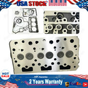 Metal Complete Cylinder Head Assy Full Gasket Kit For Kubota D782 Engine Replace