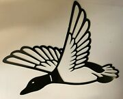 Duck Flying Metal Sign Art 14x12 Home Decor Hunting Choose Your Color