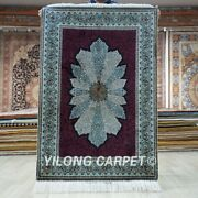 Yilong 2.7and039x4and039 Handwoven Silk Carpet Home Decor Antistatic Oriental Rug Tj336a
