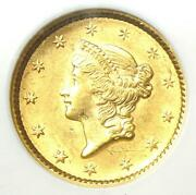 1851 Liberty Gold Dollar G1 - Certified Ngc Ms61 Bu Unc - Rare Early Coin