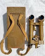 Wwii Japanese 8x6.2 Trench Periscope/binoculars With Case