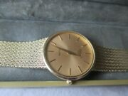 Vintage Wrist Watch Ultime Bulova P6 14k Solid Gold Watch And Bandswiss Made