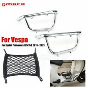 13-21 For Vespa Sprint 150 Motorcycle Front Footboard Luggage Rack Accessories
