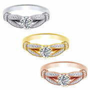 1.21 Ct Round Cut Natural Diamond 18k Solid Gold Nelly Engagement Ring
