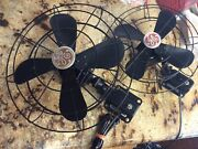 Antique Wall Mount General Electric Fans Works Well, Pair