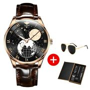Automatic Mens Watches Oupinke Mechanical Moon Phase Wirstwatches For Xmas Gift