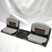 Boat Double Seat Bench Black Gray Red 71 X 21 3/8 X 19 Inch