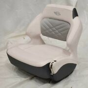 Chaparral Boat Extra Wide Helm Bolster Seat White Slate - Tear Stains