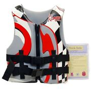 Ranger Boats Life Jacket Type Iii Vest Gray Red 303y - Youth