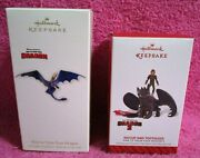 Hallmark How To Train Your Dragon 2 Toothless And Hiccup Ornament Set 2010 2014