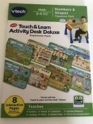 Vtech Touch And Learn Activity Desk Deluxe Expansion Pk. Pre-k Numbers And Shapes