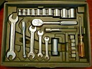 Vintage Indestro Select Tools Socket Wrench And Tool Set Usa 1969 W/case